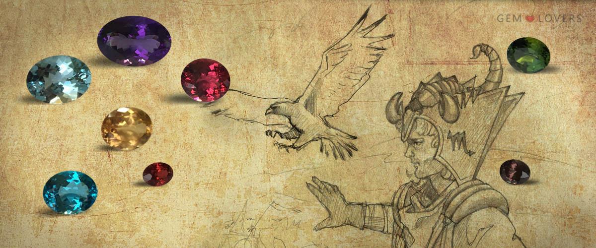 Драгоценные камни для Скорпиона по гороскопу