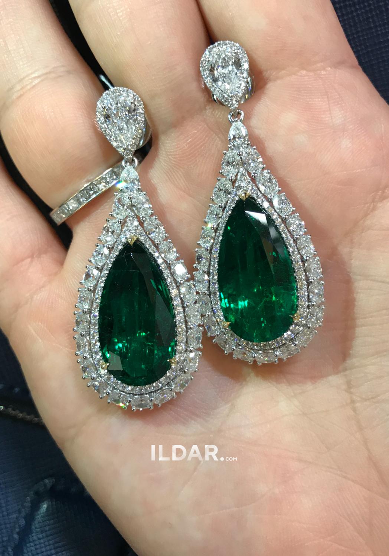 Incredible emerald earrings 25.78 ct