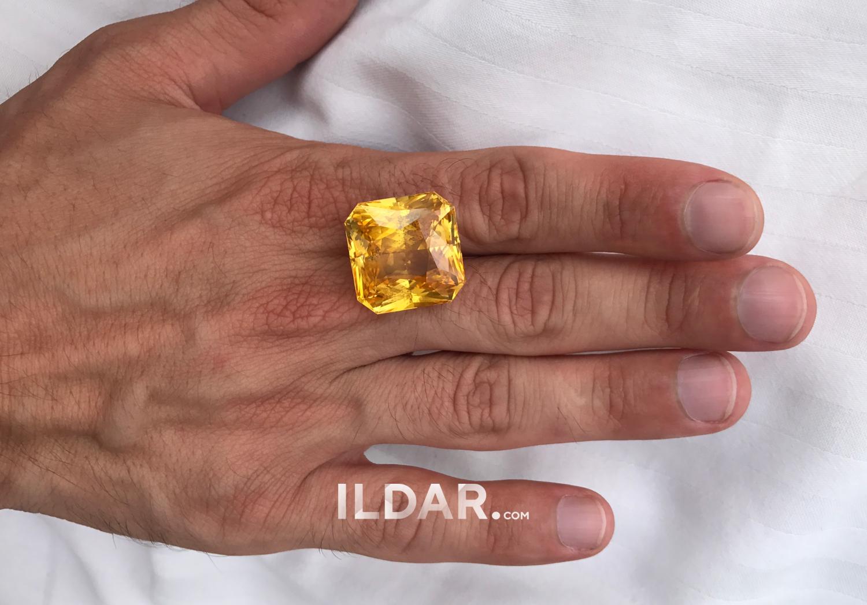 Chic Golden Yellow sapphire 58.52 ct фотография